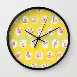 flowers 6 Wall Clock