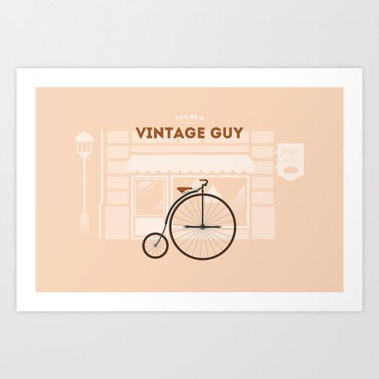 Vintage Guy Art Print