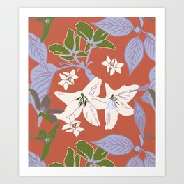 Gentle Floral. Art Print