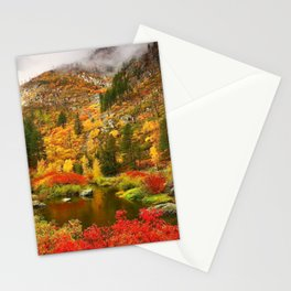 Fall Color in Tumwater Canyon, Washington Stationery Cards