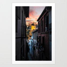 Alhambra from the Street Art Print