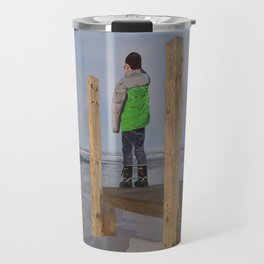Icy Waters of Lake St. Clair, Harrison Twp., MI Travel Mug