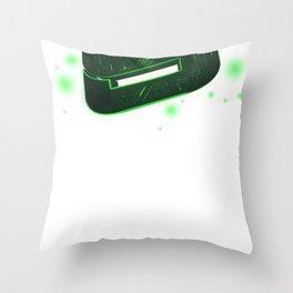 Storm Tech Green Throw Pillow