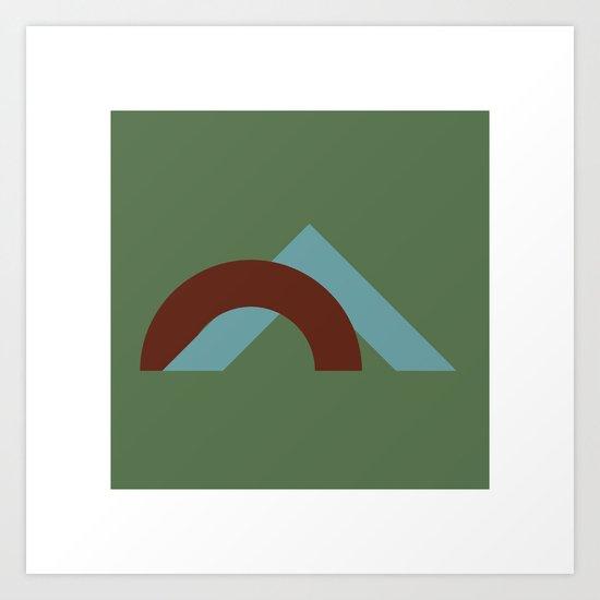 #40 Couple – Geometry Daily Art Print