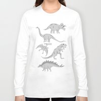 dinosaurs Long Sleeve T-shirts featuring Dinosaurs by chobopop