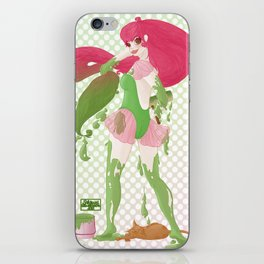 Pin'up et peinture verte... iPhone Skin