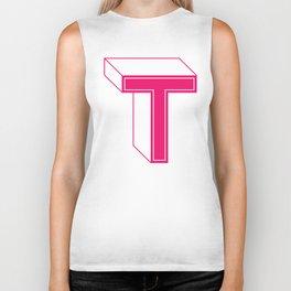 Letter T Biker Tank