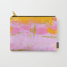 March Abstract Three Carry-All Pouch