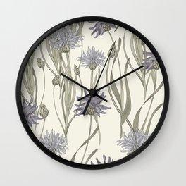 vintage cornflowers Wall Clock