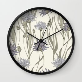 vintage cornflowers Wall Clock