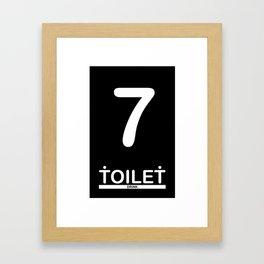 TOILET CLUB #7 Framed Art Print