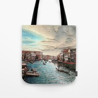 venice Tote Bags featuring Venice by MehrFarbeimLeben