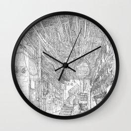 Kowloon walled city. Hong Kong Wall Clock