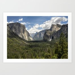 Tunnel View - Yosemite National Park Art Print