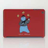 cookie monster iPad Cases featuring Cookie Mobster by Sophie Corrigan