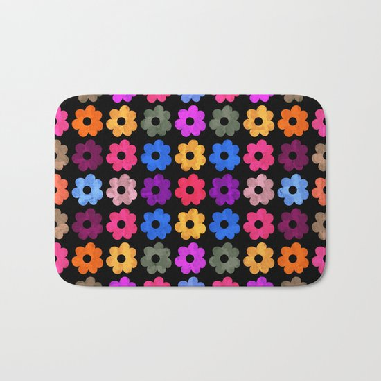 Colorful Floral Pattern III Bath Mat
