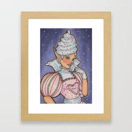 Candy Elf Framed Art Print