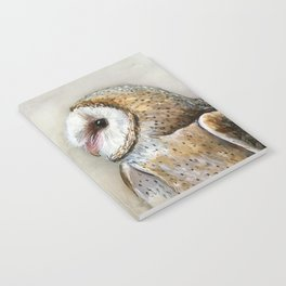Barn Owl Watercolor, Birds Of Prey Wild Animals Owls Notebook