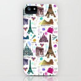 Voyage à Paris (Watercolor) iPhone Case