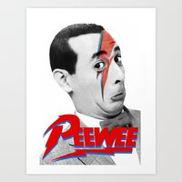 pee wee Art Prints featuring Pee wee by Iamzombieteeth Clothing