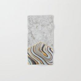 Concrete Arrow - Blue Marble #177 Hand & Bath Towel