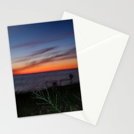 Neon orange & royal blue sunset gradient Stationery Cards