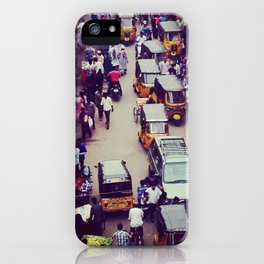 Crowded Indian Street - Streets of India iPhone Case