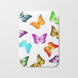 Colorful butterflies Bath Mat