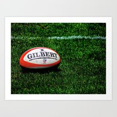 Rugby Time Art Print