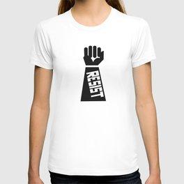 Resist raised fist T-shirt