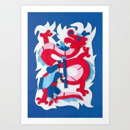 Dragon Slayer Art Print