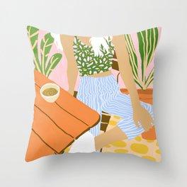 Kawa Tea #illustration #fashion Throw Pillow