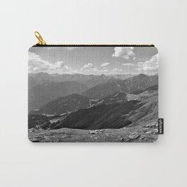 panorama on adventure park hög alps serfaus fiss ladis tyrol austria europe black white Carry-All Pouch