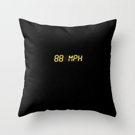 88 mph - Back to the future Throw Pillow