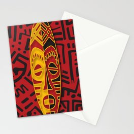African Tribal Pattern No. 44 Stationery Cards