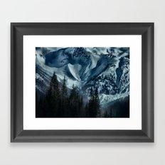 Foot of the Glacier  Framed Art Print