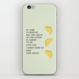 A Love of Tacos iPhone Skin