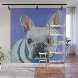 French Bulldog Portrait Painting Wall Mural