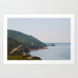 Cabot Trail in Cape Breton Nova Scotia Art Print