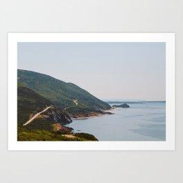 Cabot Trail in Cape Breton Nova Scotia Art Print