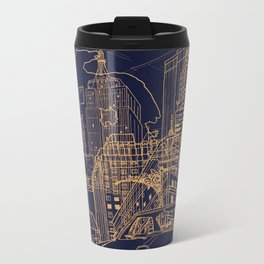 New York! Night Metal Travel Mug