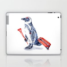 Penguin with a Suitcase and a Vuvuzela  Laptop & iPad Skin