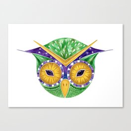 Nursery Green Owl Canvas Print