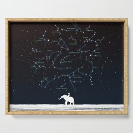 Falling star constellation Serving Tray