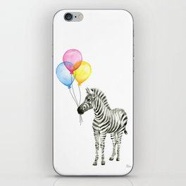 Zebra with Balloons Baby Animal iPhone Skin