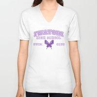 iwatobi V-neck T-shirts featuring Iwatobi - Betterfly by drawn4fans