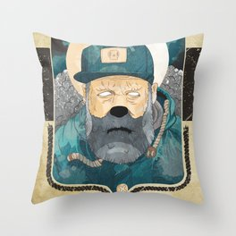 Modern day Pirate. Throw Pillow