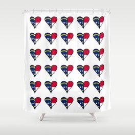 flag of north carolina heart, south,usa,Old North State,Tar Heel,North Carolinian,Charlotte,Raleigh Shower Curtain