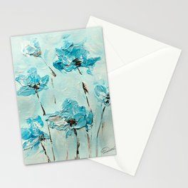 Flowers (in acrylic paint) Stationery Cards