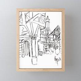 town square Framed Mini Art Print
